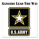 Army ranger Square Car Magnets