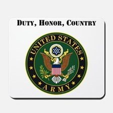 Duty Honor Country Army Mousepad