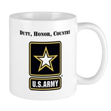 Duty Honor Country Army Mugs
