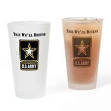 This Well Defend Army Drinking Glass