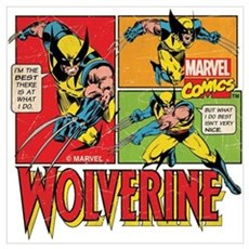 Wolverine Comic Wall Art Poster