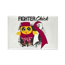Throat Cancer Fighter Rectangle Magnet