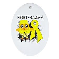 Sarcoma Fighter Ornament (Oval)