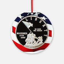 2005 Marine Corps Dollar Ornament (Round)