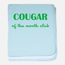 COUGAR of the MONTH CLUB baby blanket