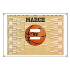 March Basketball Bracket Madness Chart Banner