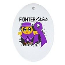 Pancreatic Cancer Fighter Ornament (Oval)