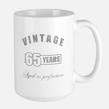 Vintage 65th Birthday Large Mug