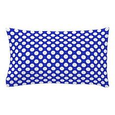 Blue White Dots Pattern Pillow Case