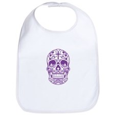 SugarSkull Purple-01 Bib