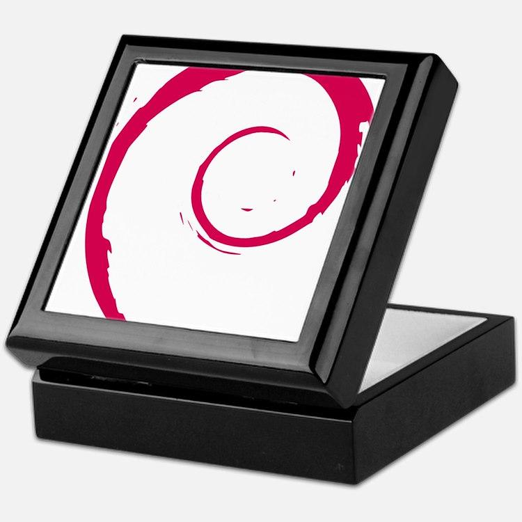 Debian Logo Keepsake Box