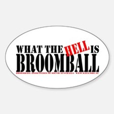 What the HELL is broomball Oval Stickers