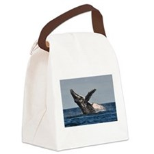 Humpback Whale 2 Canvas Lunch Bag