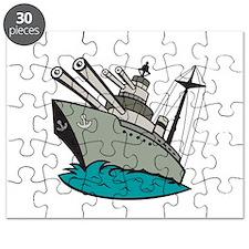 World War Two Battleship Cartoon Puzzle
