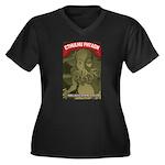 Strk3 Cthulhu Women's Plus Size V-Neck Dark T-Shir