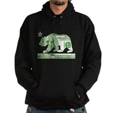 California Money Bear (vintage distressed) Hoodie