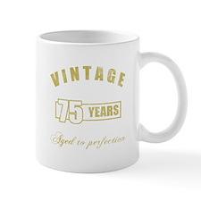 Vintage 75th Birthday Small Mug