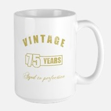 Vintage 75th Birthday Large Mug