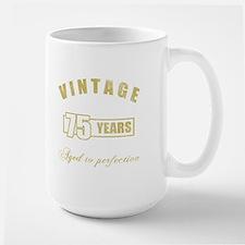 Vintage 75th Birthday Mug