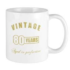 Vintage 80th Birthday Small Mug