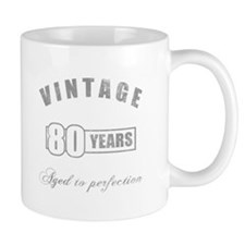 Vintage 80th Birthday Mug