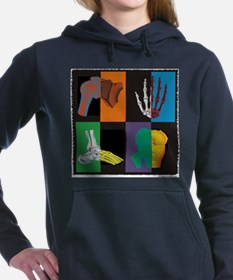 joints, square multicolor Hooded Sweatshirt