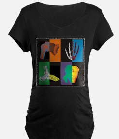 joints, square multicolor Maternity T-Shirt