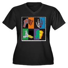 joints, square multicolor Plus Size T-Shirt
