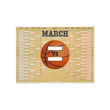 March Basketball Bracket Madness Ch 5'x7'Area Rug