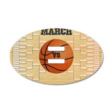 March Basketball Bracket Mad Wall Decal