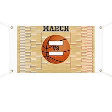 March Basketball Bracket Madness Chart Banner