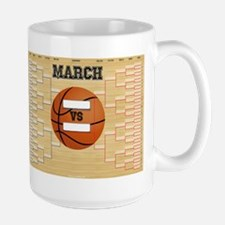 March Basketball Bracket Madness Chart Mug