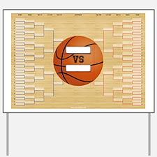 March Basketball Bracket Madness Chart Yard Sign