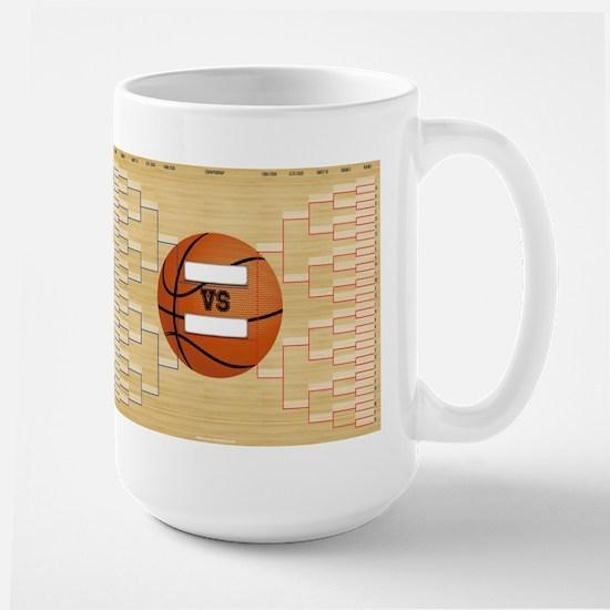 March Basketball Bracket Madness Chart Large Mug
