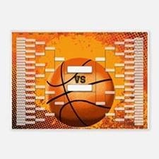 March Madness Basketball Bracket Ch 5'x7'Area Rug