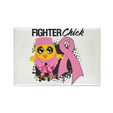 Breast Cancer Fighter Rectangle Magnet