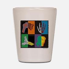 joints, square multicolor Shot Glass