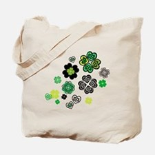 Celtic Love Knot Clovers Tote Bag