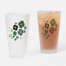 Celtic Love Knot Clovers Drinking Glass