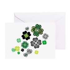 Celtic Love Knot Clovers Greeting Card