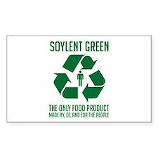 Strk3 Soylent Green Rectangle Decal