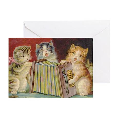 Cute Antique Kittens Greeting Card