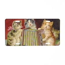 Cute Antique Kittens Aluminum License Plate