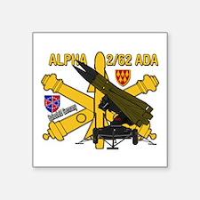 """Alpha 2/62 Ada Square Square Sticker 3"""" X 3"""""""