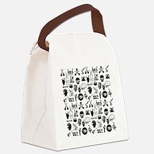 Rock N Roll Canvas Lunch Bag