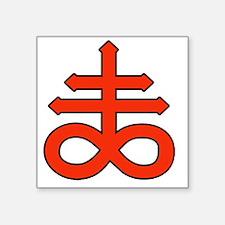 "The Satanic Cross Square Sticker 3"" x 3"""