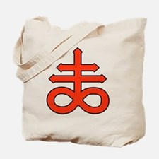 The Satanic Cross Tote Bag