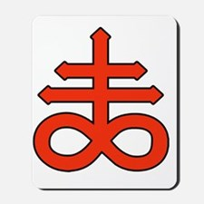 The Satanic Cross Mousepad