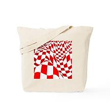 Warped Checker Tote Bag