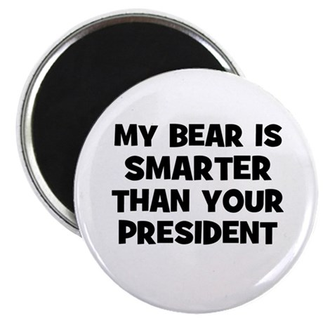 """my bear is smarter than your 2.25"""" Magnet (10 pac"""